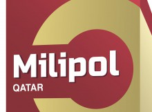 Logo Milipol Qatar blanc 2020 simple