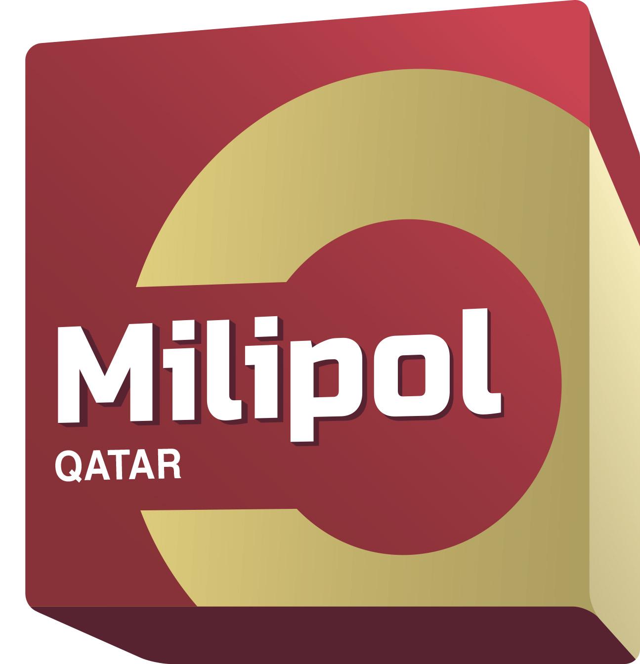 Logo Milipol Qatar blanc 2020 simple
