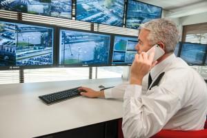 Videoüberwachung in der Sicherheitsleitzentrale. Quelle: Bosch Security